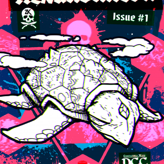 Shows the cover of the zine.